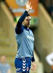 Charlton Athletic's Lee Novak celebrates scoring his side's first goal of the game