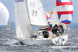 The Silvers Marine Scottish Series 2014, organised by the  Clyde Cruising Club,  celebrates it's 40th anniversary.<br /> Day 2GBR8304N, Jazz, Neil Manderson, Helensburgh SC<br /> Racing on Loch Fyne from 23rd-26th May 2014<br /> <br /> Credit : Marc Turner / PFM