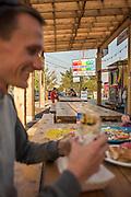 Nyssa's Veggie Burrito from Fernando's Alegria food cart
