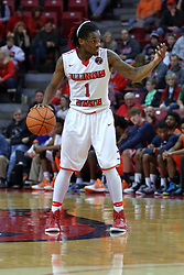 10 December 2016:  Paris Lee(1) during an NCAA  mens basketball game between the UT Martin Skyhawks and the Illinois State Redbirds in a non-conference game at Redbird Arena, Normal IL