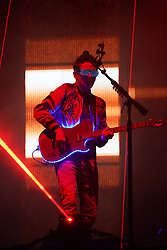 Matt Bellamy of Muse performing in the final headline slot on the Main Stage at the 2017 Reading Festival. Photo date: Sunday, August 27, 2017. Photo credit should read: Richard Gray/EMPICS Entertainment