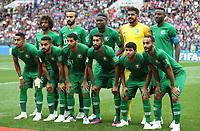 Football - 2018 FIFA World Cup - Group A: Russia vs. Saudi Arabia<br /> <br /> The Saudi Arabian  team are seen at the Luzhniki Stadium, Moscow.<br /> <br /> COLORSPORT/IAN MACNICOL