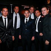 NLD/Bunnik/20121210 - Finale Miss Nederland 2012, Jeffrey Sneijder, Rodney Snijder en Wesley Sneijder met vrienden
