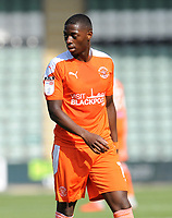 Blackpool's Sullay Kaikai during the game<br /> <br /> Photographer Ian Cook/CameraSport<br /> <br /> The EFL Sky Bet League One - Plymouth Argyle v Blackpool - Saturday September 12th 2020 - Home Park - Plymouth<br /> <br /> World Copyright © 2020 CameraSport. All rights reserved. 43 Linden Ave. Countesthorpe. Leicester. England. LE8 5PG - Tel: +44 (0) 116 277 4147 - admin@camerasport.com - www.camerasport.com