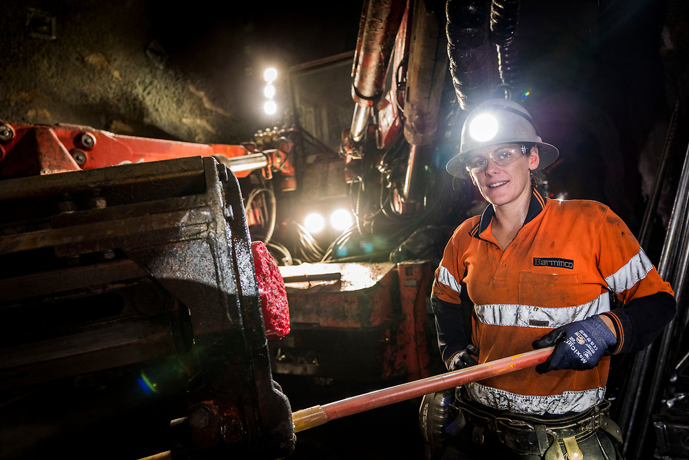 Underground mining operations in the Western Australia Goldfields.