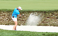 17 August 2014: Stacey Lewis hits out of the bunker in action during the final round of the Wegmans LPGA Golf Damen Championship at the Monroe Golf Club in Pittsford, <br /> Norway only