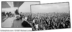Bikers National Anthem, Steppenwolf plays the Hills, Sturgis, SD. 1987<br /> <br /> Limited Edition Print from an edition of 50. Photo ©1987  Michael Lichter.<br /> <br /> Description: All for fun, fun for all. Can we laugh together and laugh at each other anymore?