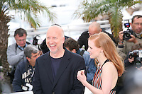 John Hillcoat, Jessica Chastain at the Lawless film photocall at the 65th Cannes Film Festival. The screenplay for the film Lawless was written by Nick Cave and Directed by John Hillcoat. Saturday 19th May 2012 in Cannes Film Festival, France.