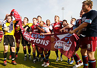 Photo: Steve Bond.<br />Scunthorpe United v Carlisle United. Coca Cola League 1. 05/05/2007. Scunthorpe United celebrate as champions