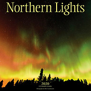 PRODUCT: Calendar<br /> TITLE: 2020 Northern Lights<br /> CLIENT: Wyman Publsihing