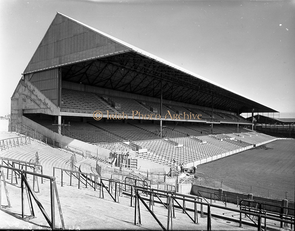 27/05/1959<br /> 05/27/1959<br /> 27 May 1959<br /> New Hogan stand at Croke Park, Dublin prior to opening on the 7th June. A view of the new stand from the terrace.