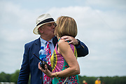 April 29, 2017, 22nd annual Queen's Cup Steeplechase. Bill and Carrington Price, race chairmans