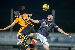 Alloa Athletic's Connor McManus and Falkirk's Bob McHugh. <br /> Falkirk 5 v 0 Alloa Athletic, Scottish Championship game played at The Falkirk Stadium.