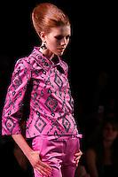 Alyona Osmanova walks the runway  at the Christian Dior Cruise Collection 2008 Fashion Show