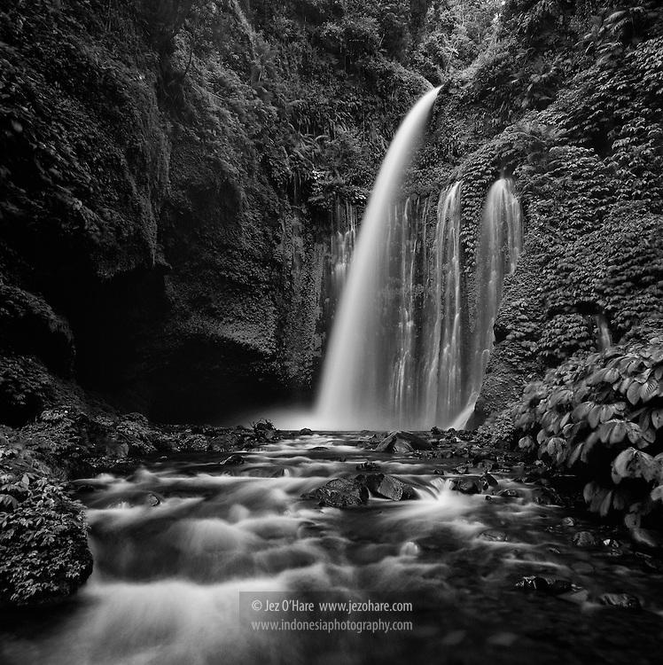 Above Sedang Gile Waterfall, Lombok, West Nusa Tenggara, Indonesia.