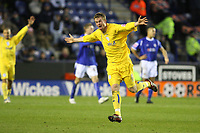 Photo: Pete Lorence.<br />Leicester City v Sheffield Wednesday. Coca Cola Championship. 02/12/2006.<br />Chris Brunt celebrates scoring the second goal of the match.