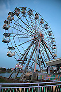 August, 24, 2008, Ferris wheel, at Six Flags Amusement Park in Eastern New Orleans, destroyed by Hurricane Katrina.