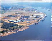 """Port of Portland. Aerials at Rivergate. August 8, 1969"" (Black & white 16188)"