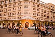 08 MARCH 2006 - HO CHI MINH CITY, VIETNAM: Traffic passes the Hotel Majestic, a 4 star tourist hotel near the Saigon River in Ho Chi Minh City, Vietnam. HCMC is still widely known as Saigon. PHOTO BY JACK KURTZ