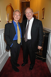 Left to right, actorsNICKOLAS GRACE and JULIAN FELLOWES at a party to celebrate the 21st birthday of one of their horses Leopold, held at 35 Sloane Gardens, London W1 on 10th September 2007.<br /><br />NON EXCLUSIVE - WORLD RIGHTS