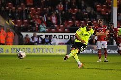 Jake Forster-Caskey of Brighton & Hove Albion scores a penalty to make it 0-1 - Mandatory byline: Dougie Allward/JMP - 07966386802 - 25/08/2015 - FOOTBALL - Bescot Stadium -Walsall,England - Walsall v Brighton - Capital One Cup - Second Round