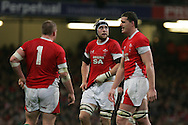 Wales capt Ryan Jones (c). Invesco Perpetual series 2008 autumn international match, Wales v New Zealand at the Millennium Stadium on Sat 22nd Nov 2008. pic by Andrew Orchard, Andrew Orchard sports photography,