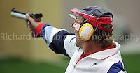 Paralympics London 2012 - ParalympicsGB - Shooting Mens P1-10m Air Pistol- SH1 Heats 30th August 2012.  .Adrian Bunclark competing in the Mens P1-10m Air Pistol-SH1 Heats at the Paralympic Games in London. Photo: Richard Washbrooke/ParalympicsGB