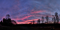 Colorful Autumn Sky at Dawn. Backyard Nature in New Jersey. Composite of seven images taken with a Fuji X-T1 camera and 16 mm f/1.4 lens (ISO 200, 16 mm, f/2.8, 1/60 sec)