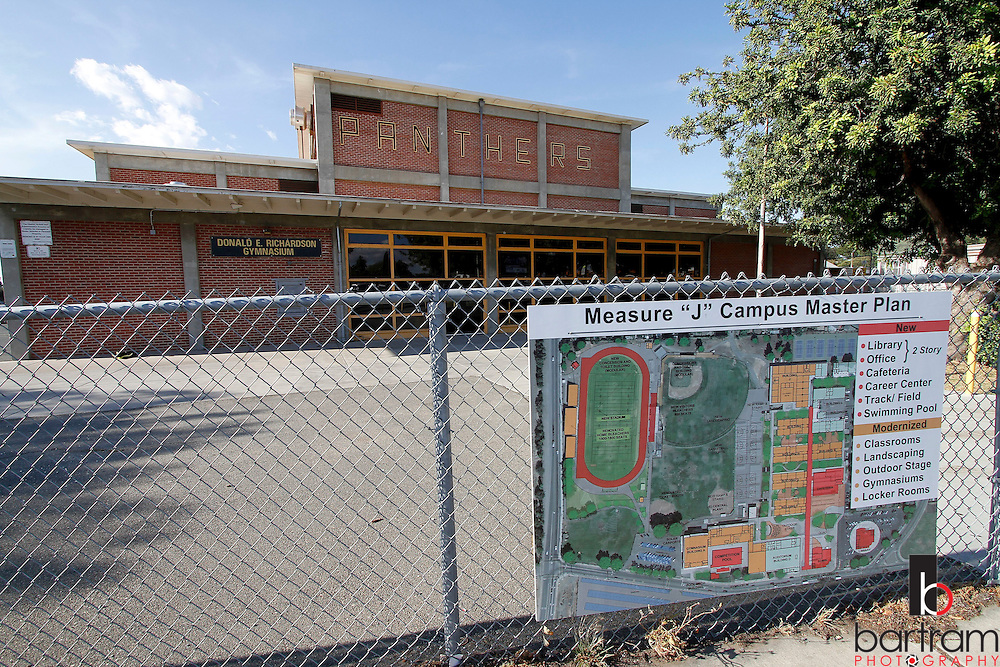 A sign showing proposed Measure J improvements at Antioch High School is shown on Tuesday, June 5, 2012. Measure J is a $59.5 million school bond which will allow the District to rebuild Antioch High School.   (Photo by Kevin Bartram)