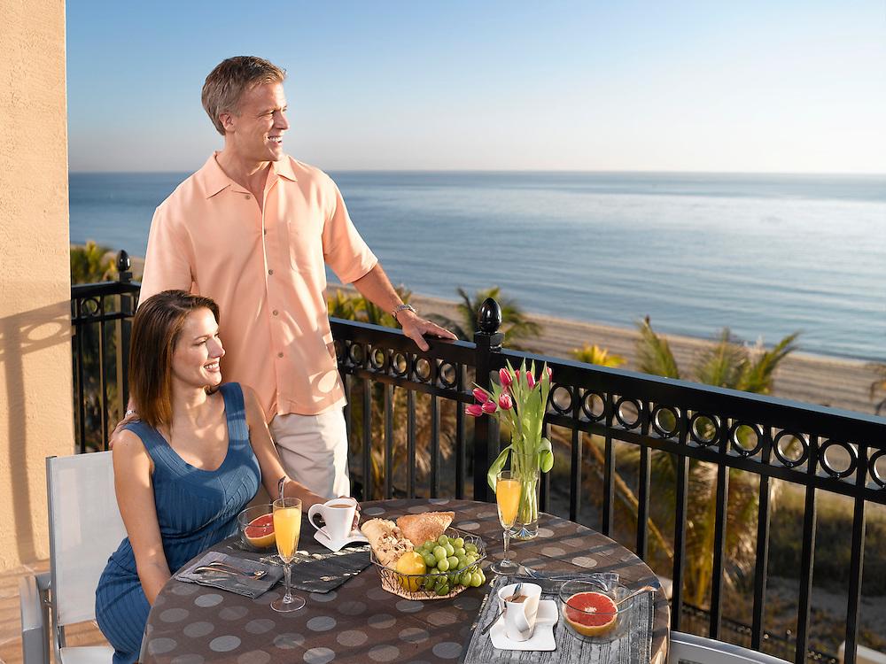 Lifestyle couple on balcony