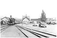 D&RGW #470 at the Durango depot preparing to leave with the eastbound San Juan.<br /> D&RGW  Durango, CO  Taken by Pennington, William - 8/9/1940