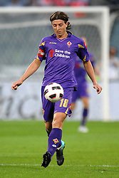 18.09.2010, Stadio Artemio Franchi, Florenz, ITA, Serie A, AC Florenz vs Lazio Rom, im BildRiccardo MONTOLIVO Fiorentina.EXPA Pictures © 2010, PhotoCredit: EXPA/ InsideFoto/ Andrea Staccioli +++++ ATTENTION - FOR USE IN AUSTRIA / AUT AND SLOVENIA / SLO ONLY +++++... / SPORTIDA PHOTO AGENCY