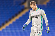Cardiff City's Goalkeeper Alex Smithies (12) in action  during the EFL Sky Bet Championship match between Cardiff City and Birmingham City at the Cardiff City Stadium, Cardiff, Wales on 16 December 2020.