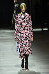 A model walks the runway during the Kenzo Menswear Fall/Winter 2017-2018 show as part of Paris Fashion Week on January 22, 2017 in Paris, France. Photo by Laurent Zabulon/ABACAPRESS.COM