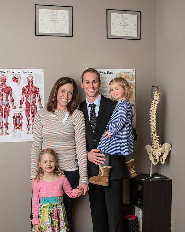 10 February 2016- Dr. Travis Baker is photographed at Balanced Body Chiro for The Face.
