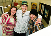 NEWS&GUIDE PHOTO / PRICE CHAMBERS<br /> From left, Claire Johnson, Travis Rice and Mike Parillo head up Asymbol, an online art gallery based in Jackson.