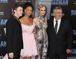 'Valerian And The City Of A Thousand Planets' World Premiere held at the TCL Chinese Theatre. 17 Jul 2017 Pictured: Dane DeHaan, Rihanna, Cara Delevingne and Luc Besson. Photo credit: Janet Gough / AFF-USA.COM / MEGA TheMegaAgency.com +1 888 505 6342