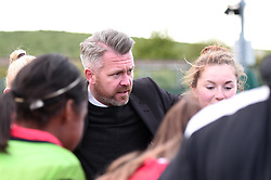 Willie Kirk manager of Bristol City Women talks to his players after drawing 1-1 against Liverpool Ladies - Mandatory by-line: Paul Knight/JMP - 20/05/2017 - FOOTBALL - Stoke Gifford Stadium - Bristol, England - Bristol City Women v Liverpool Ladies - FA Women's Super League Spring Series