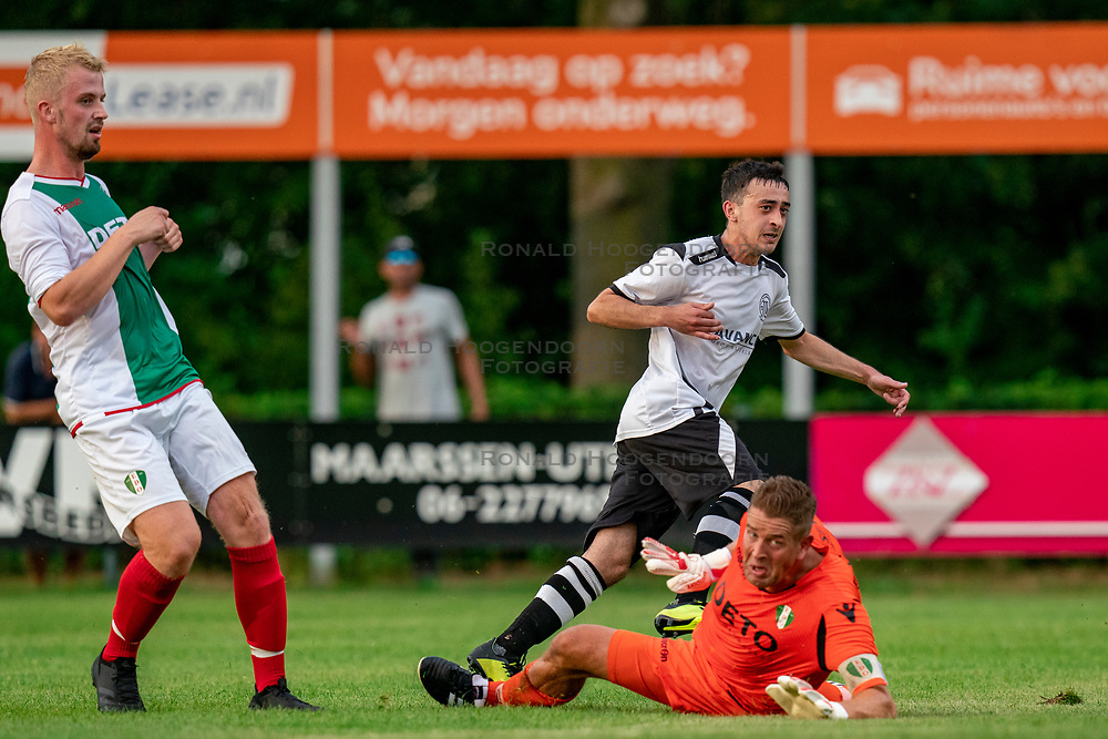 Anis Ziani of VV Maarssen in action. Friendly match against EDO and Maarssen lost the home match with 3-0 on 20 August 2020 in Maarssen.