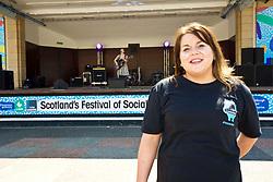 Former Britain's Got Talent contestant Anna Devitt from Glasgow hosted Social in the Gardens, a two-day open air festival in Princes Street Gardens, Edinburgh. Pic copyright Terry Murden @edinburghelitemedia