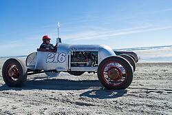 Jim Loughlin racing his 1926 Model T at the Race of Gentlemen. Wildwood, NJ, USA. October 11, 2015.  Photography ©2015 Michael Lichter.