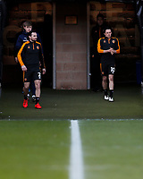 Hull City's Lewie Coyle and George Honeyman during the pre-match warm-up <br /> <br /> Photographer Lee Parker/CameraSport<br /> <br /> The EFL Sky Bet League One - Hull City v Oxford United - Saturday 13th March 2021 - KCOM Stadium - Kingston upon Hull<br /> <br /> World Copyright © 2021 CameraSport. All rights reserved. 43 Linden Ave. Countesthorpe. Leicester. England. LE8 5PG - Tel: +44 (0) 116 277 4147 - admin@camerasport.com - www.camerasport.com