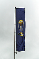 Cricket - 2019 ICC Cricket World Cup - Group Stage: Bangladesh vs. Sri Lanka<br /> <br /> A World Cup flag on display on an overcast day, at County Ground, Bristol.<br /> <br /> COLORSPORT/ASHLEY WESTERN