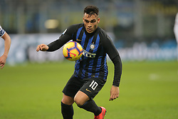 February 3, 2019 - Milan, Milan, Italy - Lautaro Martinez #10 of FC Internazionale Milano in action during the serie A match between FC Internazionale and Bologna FC at Stadio Giuseppe Meazza on February 3, 2019 in Milan, Italy. (Credit Image: © Giuseppe Cottini/NurPhoto via ZUMA Press)