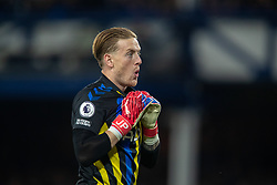 LIVERPOOL, ENGLAND - Monday, September 13, 2021: Everton's goalkeeper Jordan Pickford during the FA Premier League match between Everton FC and Burnley FC at Goodison Park. (Pic by David Rawcliffe/Propaganda)