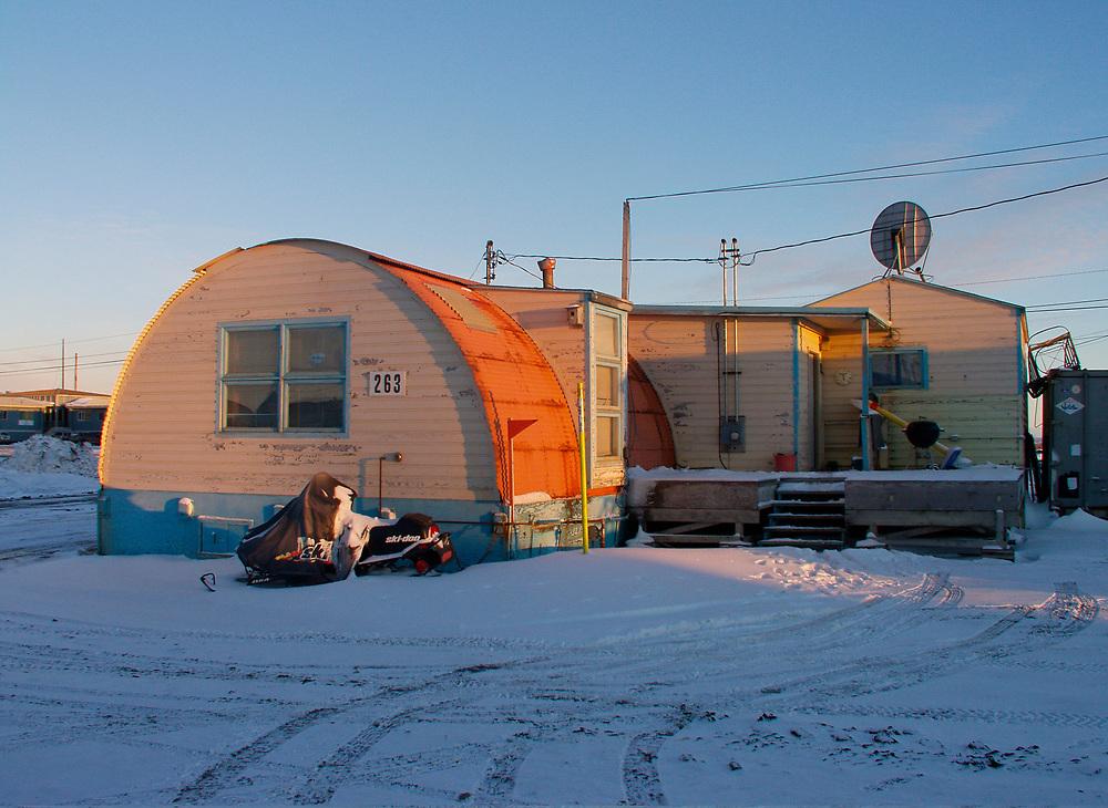 Barrow, Alaska. Quonset Hut used as a home at NARL.