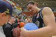 Taylor Hawks Derone Raukawa signs autographs for fans following the Sal's NBL Basketball match, Taylor Hawks v EnviroNZ Bulls, Pettigrew Green Arena, Napier, Saturday, June 26, 2021. Copyright photo: Kerry Marshall / www.photosport.nz