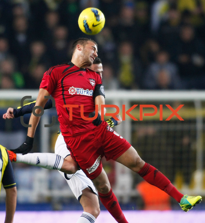 Gaziantepspor's Cenk Tosun during their Turkish superleague soccer match Fenerbahce between Gaziantepspor at the Sukru Saracaoglu stadium in Istanbul Turkey on Monday09 January 2011. Photo by TURKPIX