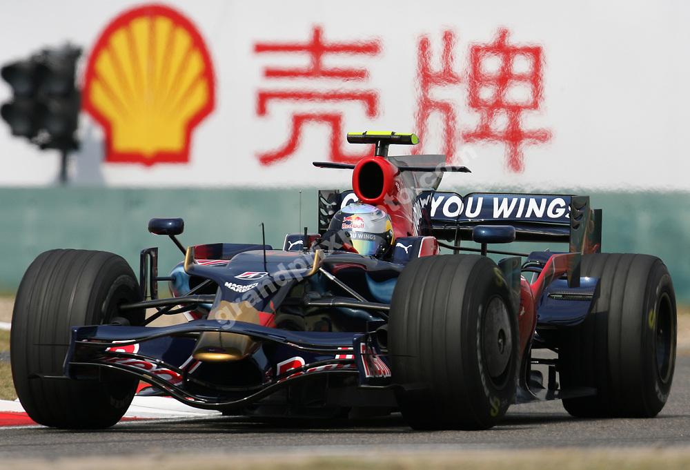 Sebastian Vettel (Toro Rosso-Ferrari) in Friday practice before the 2008 Chinese Grand Prix at the Shanghai International Circuit. Photo: Grand Prix Photo