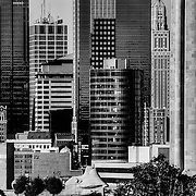 Skyline shot of downtown KCMO from the top of the hill just north of 31st  and Wyandotte.